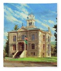 Columbia County Courthouse Fleece Blanket