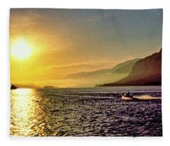 Columbia River 001 Fleece Blanket