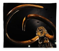 Columbian Mammoth La Brea Tar Pits Fleece Blanket