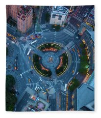 Columbus Circle Fleece Blanket