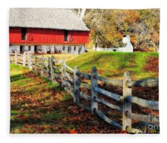 Come October Fleece Blanket