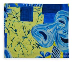 Comedy Or Tragedy Fleece Blanket