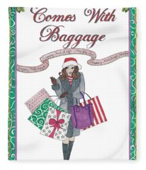 Comes With Baggage - Holiday Fleece Blanket