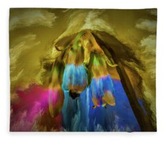 Comfrey Paint #h8 Fleece Blanket