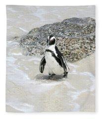 Coming Ashore At Simon's Town Fleece Blanket