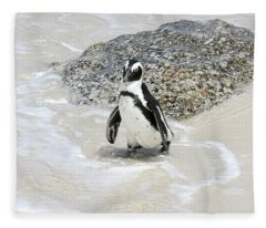 Coming Ashore At Simon's Town Fleece Blanket