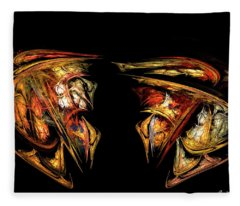 Coming Face To Face Fleece Blanket