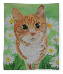 Coming Up Daisies Fleece Blanket