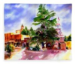 Commercial Street, Old Town Auburn Fleece Blanket