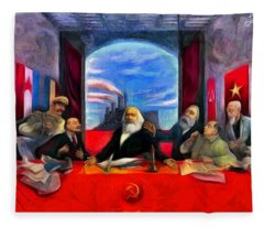 Communist Last Supper - Da Fleece Blanket