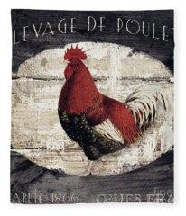 Compagne IIi Rooster Farm Fleece Blanket