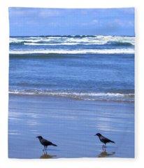 Companion Crows Fleece Blanket