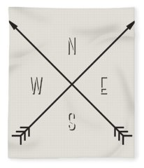 Compass Fleece Blanket