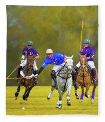 Competition For The Ball - Polo Fleece Blanket