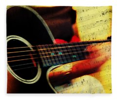 Composing Hallelujah. Music From The Heart  Fleece Blanket