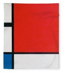 Composition II In Red, Blue, And Yellow - Piet Mondrian Fleece Blanket