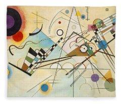 Composition Viii Fleece Blanket
