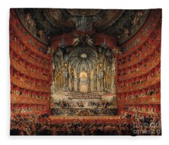 Concert Given By Cardinal De La Rochefoucauld At The Argentina Theatre In Rome Fleece Blanket
