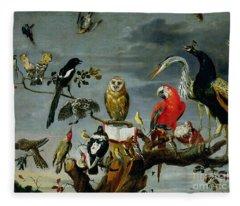 Concert Of Birds Fleece Blanket