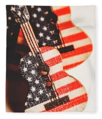 Concert Of Stars And Stripes Fleece Blanket