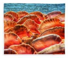 Conch Parade Fleece Blanket