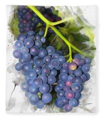 Concord Grape Fleece Blanket