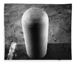 Concrete Bollard In Parking Lot Fleece Blanket