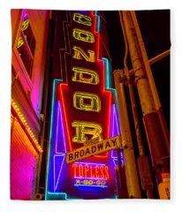 Condor Neon On Broadway Fleece Blanket