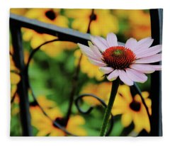 Coneflower Moment For Pondering Fleece Blanket