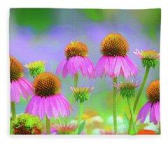 Coneflowers Fleece Blanket
