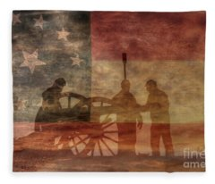 Confederate Battery At Dawn Fleece Blanket