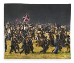 Confederate Charge At Gettysburg Fleece Blanket