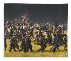Confederate Charge At Gettysburg Fleece Blanket
