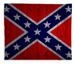 Confederate Flag Barn Door Fleece Blanket