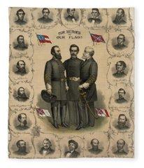 Confederate Generals Of The Civil War Fleece Blanket