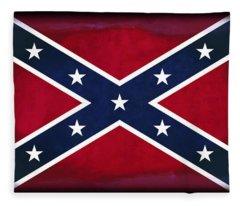 Confederate Rebel Battle Flag Fleece Blanket