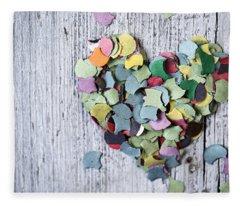 Confetti Heart Fleece Blanket