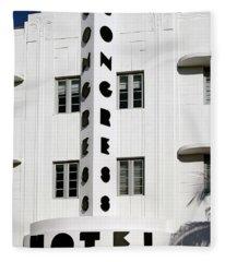 Congress Hotel. Miami. Fl. Usa Fleece Blanket