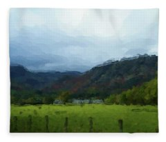 Coniston Watercolour Sketch Fleece Blanket
