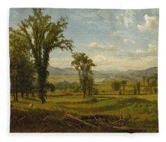 Connecticut River Valley, Claremont, New Hampshire Fleece Blanket