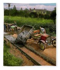 Construction - Dumping Made Easy 1925 Fleece Blanket