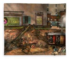 Construction - It Pays To Flirt 1916 Fleece Blanket