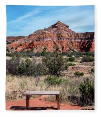 Contemplation Bench Fleece Blanket
