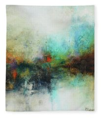 Contemporary Abstract Art Painting Fleece Blanket