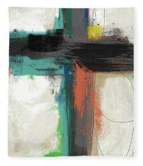Contemporary Cross 2- Art By Linda Woods Fleece Blanket