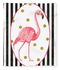 Contemporary Flamingos 2 Fleece Blanket