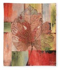 Contemporary Grape Leaf Fleece Blanket