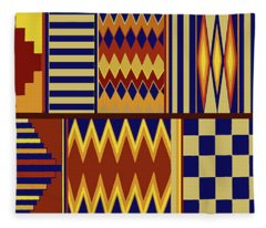 Contemporary Kilim Fleece Blanket