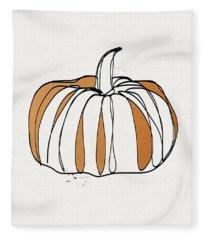 Contemporary Pumpkin- Art By Linda Woods Fleece Blanket