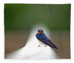 Contemporary Swallow Fleece Blanket